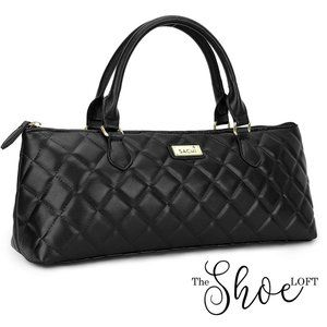 SACHI Bags - Quilted Wine Tote Purse INSULATED for ICE to CHILL